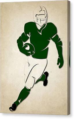 Jets Shadow Player Canvas Print by Joe Hamilton