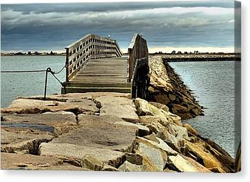 Jetty Bridge Canvas Print by Janice Drew