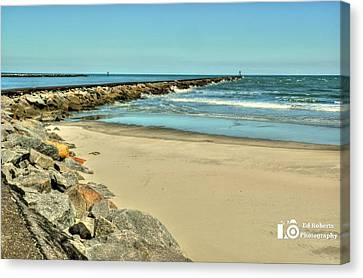 Canvas Print featuring the photograph Jetty by Ed Roberts