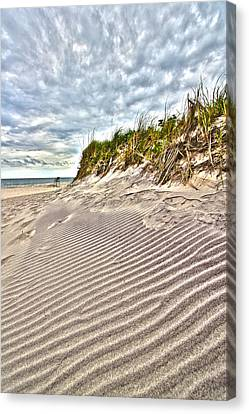 Jetty Four Dune Stripes Canvas Print