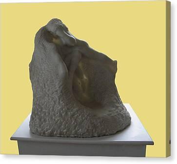 Jeux De Nymphes By Rodin Canvas Print by Manuela Constantin