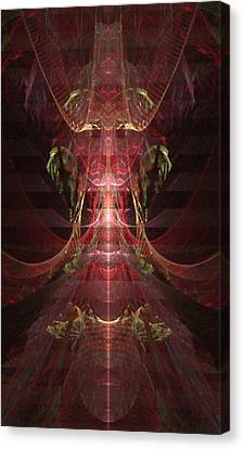 Jewel Beetle - A Fractal Design Canvas Print by Gina Lee Manley