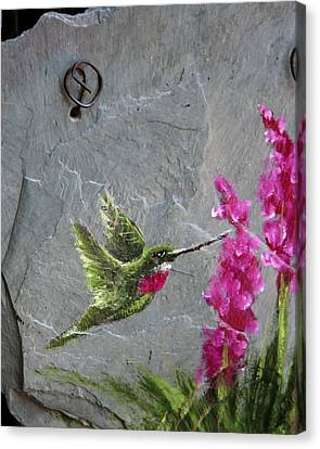 Canvas Print featuring the photograph Jewel In Flight by Rhonda McDougall