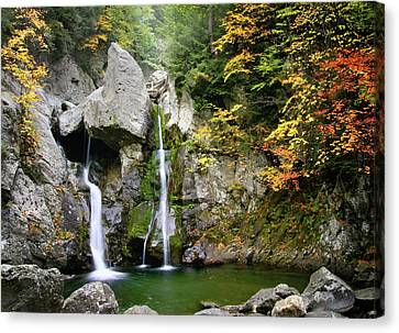 Jewel Of The Berkshires - Bash Bish Falls  Canvas Print by Thomas Schoeller