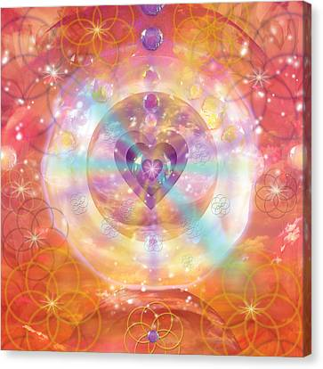 Jeweled Heart Of Happiness Canvas Print by Alixandra Mullins