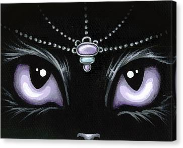 Jeweled Kitty Lilac Topaz Canvas Print by Elaina  Wagner