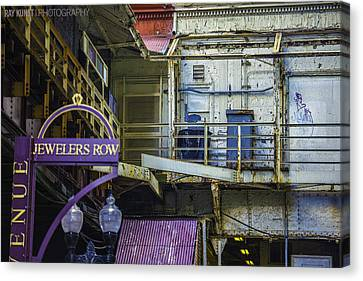 Jewelers Row Canvas Print by Raymond Kunst