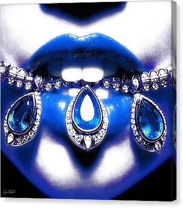 Jewelips Soft Blue Canvas Print