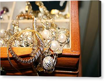Canvas Print featuring the photograph Jewelry Collections by Ester  Rogers