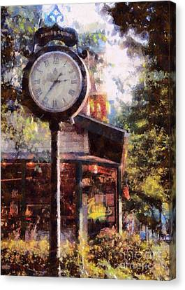 Jewelry Square Clock Milford  Canvas Print by Janine Riley