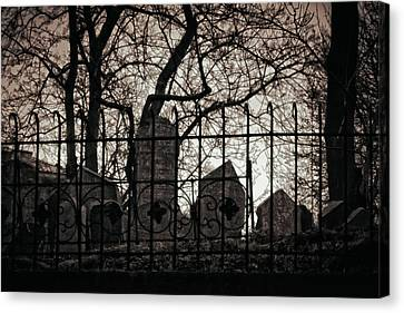 Jewish Cemetery Prague Canvas Print by Joan Carroll