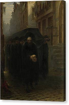 Jewish Funeral, Hein Burgers Canvas Print by Litz Collection