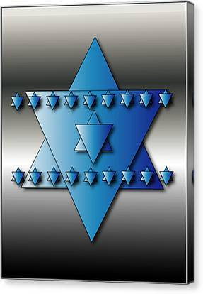 Canvas Print featuring the digital art Jewish Stars by Marvin Blaine