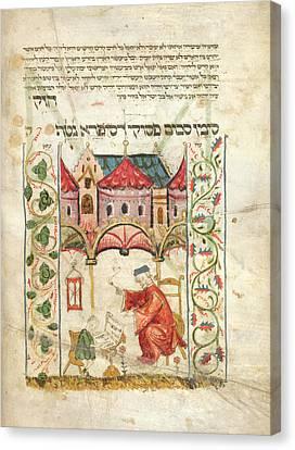 Jewish Teacher & Pupil Canvas Print by British Library