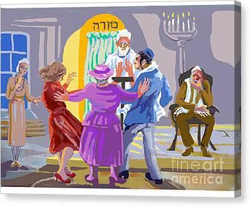 Jewish Wedding Rehearsal Canvas Print by Shirl Solomon