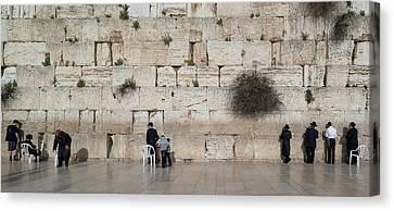 Kotel Canvas Print - Jews Praying At Western Wall by Panoramic Images