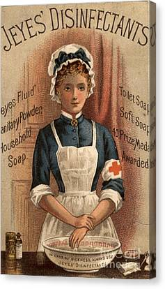 Jeyes 1890s Uk Nurses  Disinfectant Canvas Print by The Advertising Archives