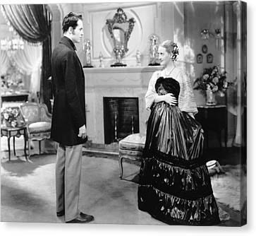 Jezebel, From Left, Henry Fonda, Bette Canvas Print