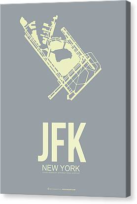 Metropolitan Canvas Print - Jfk Airport Poster 1 by Naxart Studio