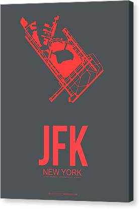 Metropolitan Canvas Print - Jfk Airport Poster 2 by Naxart Studio