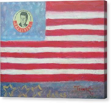 Jfk Americana Canvas Print by Jay Kyle Petersen