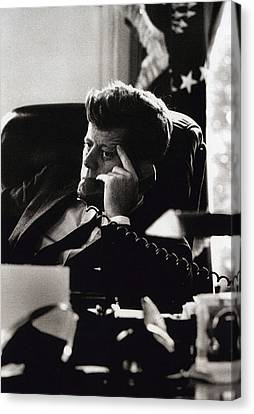 John F. Kennedy By Arthur Rickerby Canvas Print by Retro Images Archive