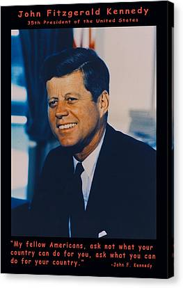 Jfk John F Kennedy Canvas Print by Official White House Photo