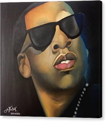 Jay Z Canvas Print - Jigga by Chelsea VanHook