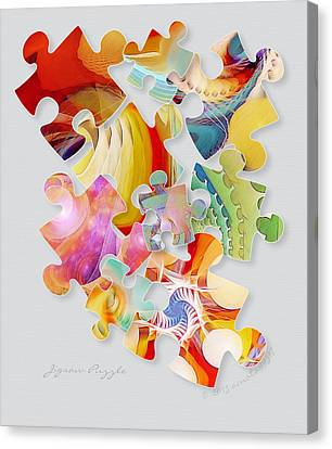 Jigsaw Puzzle Canvas Print by Gayle Odsather