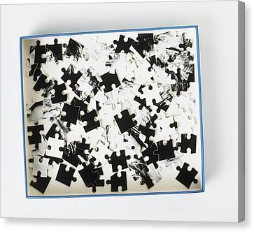 Jigsaw Puzzle Pieces Canvas Print by Dorling Kindersley/uig