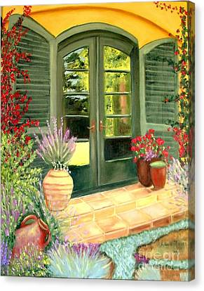 Jill's Patio Canvas Print by Laurie Morgan