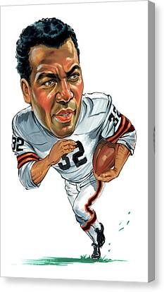 Jim Brown Canvas Print by Art