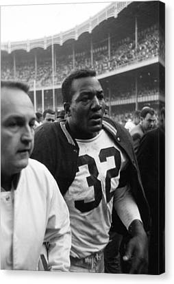 Jim Brown Post Game  Canvas Print by Retro Images Archive
