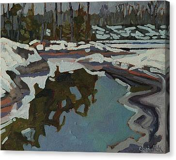 Jim Day Reflections Canvas Print by Phil Chadwick