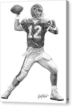 Jim Kelly Canvas Print by Harry West