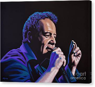 Jim Kerr Of The Simple Minds Painting Canvas Print by Paul Meijering