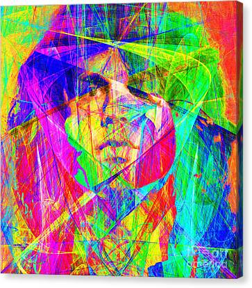 Jim Morrison 20130613 Square Canvas Print by Wingsdomain Art and Photography