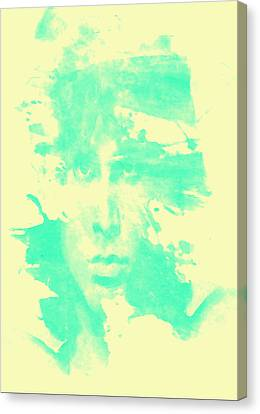 Canvas Print featuring the digital art Jim Morrison  by Brian Reaves