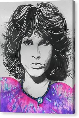 Jim Morrison . Legend Canvas Print - Jim Morrison by Chrisann Ellis
