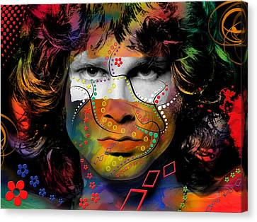Entertainment Canvas Print - Jim Morrison by Mark Ashkenazi