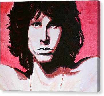 Jim Morrison Of The Doors Canvas Print by Bob Baker