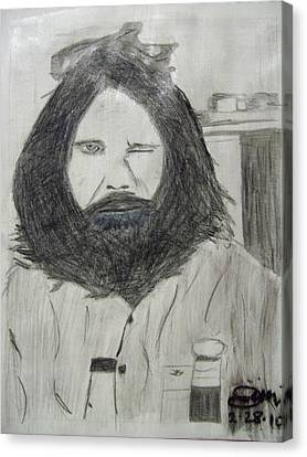 Jim Morrison Pencil Canvas Print by Jimi Bush