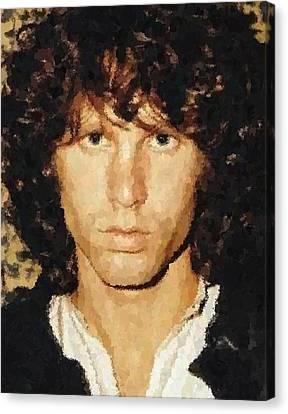 Jim Morrison Portrait Canvas Print