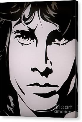 Jim Morrison  Canvas Print by Ryszard Sleczka