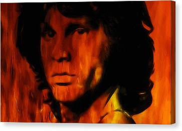 Jim Morrison Canvas Print by Steve K