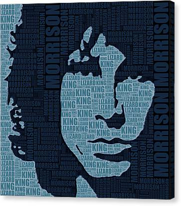 Jim Morrison The Doors Canvas Print by Tony Rubino