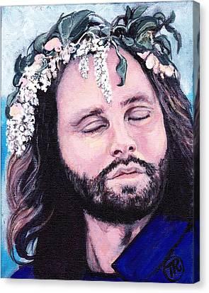 Jim Morrison Canvas Print by Tom Roderick