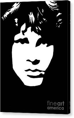 Jim Morrison  Canvas Print by Yael Rosen
