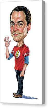 Jim Parsons As Sheldon Cooper Canvas Print