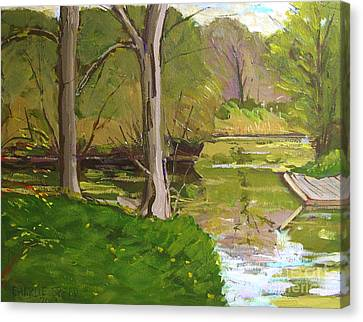 Jim Raders Pond Am Canvas Print by Charlie Spear